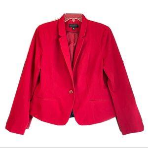 Red Long Sleeve Blazer/Suit Jacket